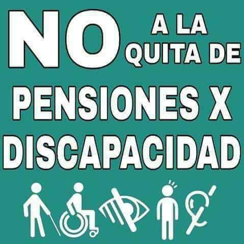Imagen no a la quita de pensiones por discapacidad